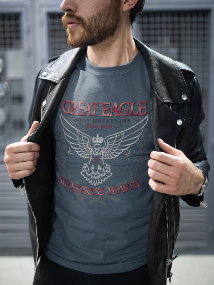 Great Eagle Air Express Travel T-Shirt Inspired by The Hobbit LOTR
